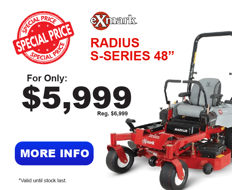 Radius E-Series : Lawn Mowers Parts and Service, YOUR POWER